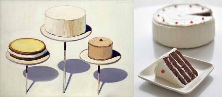 Wayne Thiebaud egoistokur Display Cakes