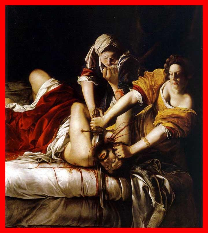 Judith Holofernes'i Öldürürken, 1620